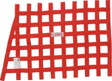 G-FORCE Racing Gear 4134RD ANGLE RIBBON WINDOW NET SFI 27.1 RED