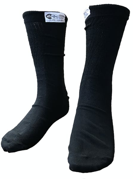 G-FORCE Racing Gear 4150MEDBK SFI Socks MED Black