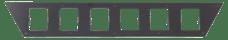 "Go Rhino 5963005T SRM200 Rear Plate - Six 3"" Cube Lights"