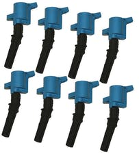 Granatelli Motorsports 21-3000 4.6/5.4L 3V OEM Coil Pack Replacements, Blue (set of 8), Ford