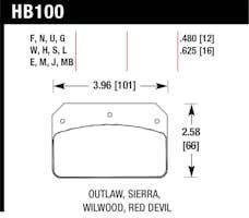 Hawk Performance HB100F.480 Disc Brake Pad