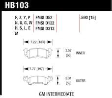 Hawk Performance HB103F.590 Disc Brake Pad
