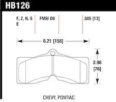 Hawk Performance HB126F.505 Disc Brake Pad