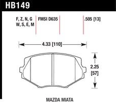 Hawk Performance HB149E.505 Disc Brake Pad