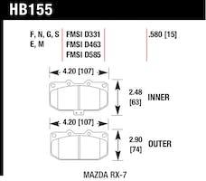 Hawk Performance HB155F.580 Disc Brake Pad