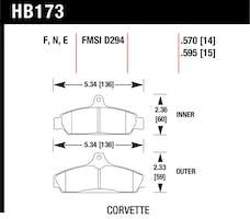 Hawk Performance HB173F.570 Disc Brake Pad