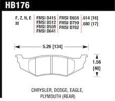 Hawk Performance HB176F.614 Disc Brake Pad