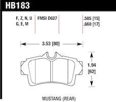 Hawk Performance HB183F.585 Disc Brake Pad