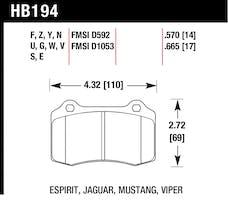 Hawk Performance HB194F.570 Disc Brake Pad