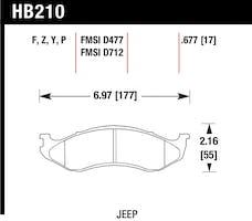 Hawk Performance HB210F.677 Disc Brake Pad