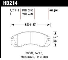Hawk Performance HB214F.618 Disc Brake Pad