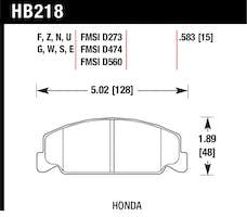 Hawk Performance HB218E.583 Disc Brake Pad