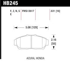 Hawk Performance HB245F.631 Disc Brake Pad