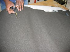 Hushmat 20100 Silencer Megabond Foam has 2 sheets of 23x36 in.1/8 in thick. Total 11.5 sqft.