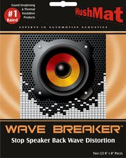 Hushmat 82450 Wave Breaker Kit includes 2 pads with self adhesive material 8x8 in.