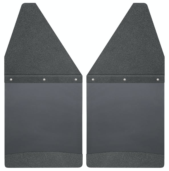 "Husky Liners 17101 Kick Back Mud Flaps 12"" Wide - Black Top and Black Weight"