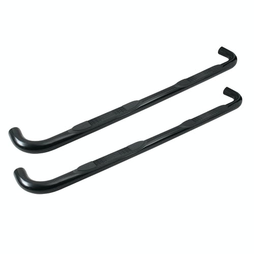 "Iconic Accessories 113-0390 3""W Round Steel Side-Step Nerf Bars (90° Bend, Black Powder Coated)"