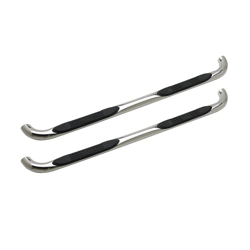 "Iconic Accessories 113-0423 3""  Round Steel Side-Step Nerf Bars (90° Bend, Polished)"