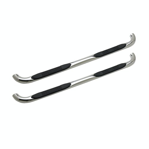 "Iconic Accessories 113-0513 3""  Round Steel Side-Step Nerf Bars (90° Bend, Polished)"