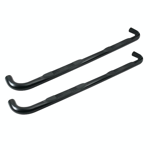 "Iconic Accessories 113-5092 3""W Round Steel Side-Step Nerf Bars (90° Bend, Black Powder Coated)"