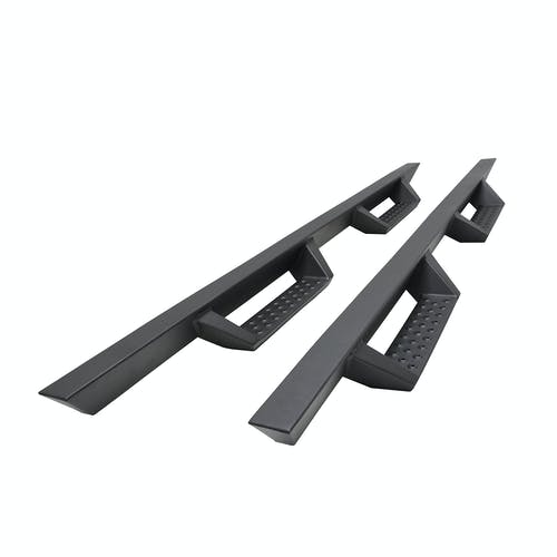 "Iconic Accessories 120-1311 Fully-Welded 4""  Drop-Step System (Textured Black Powder Coated)"