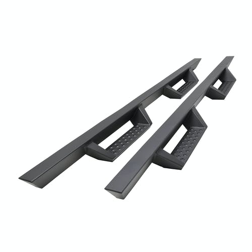 """Iconic Accessories 120-5141 Fully-Welded 4""""W Drop-Step System (Textured Black Powder Coated)"""