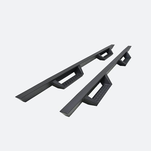 """Iconic Accessories 120-8041 Fully-Welded 4""""W Drop-Step System (Textured Black Powder Coated)"""
