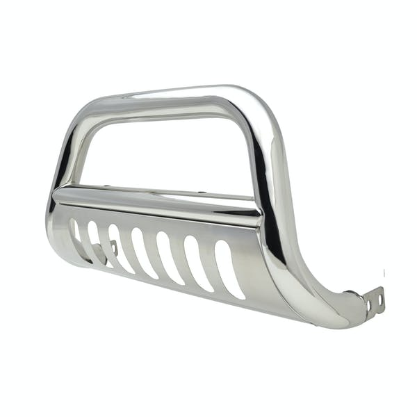 Iconic Accessories 131-0061 Polished Steel Bull Bar with Brushed Skid Plate