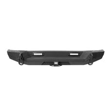 Iconic Accessories 232-5002 Textured Black Rear Bumper w/Tire Carrier Option
