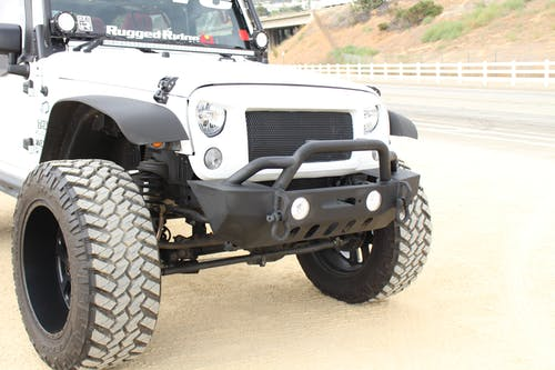 Iconic Accessories 232-5101 Stubby Front Bumper w/Winch Plate Textured Black