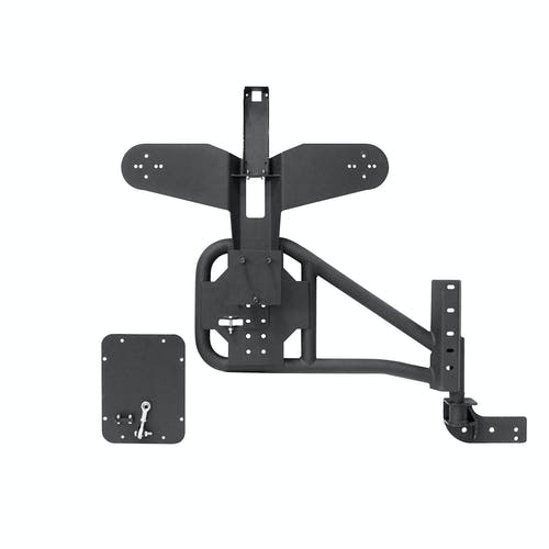 Iconic Accessories 233-5102 Bolt-on Tire Carrier Textured Black