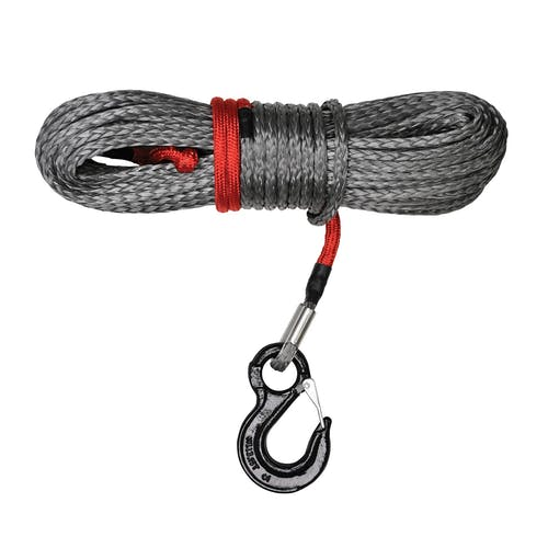 "Iconic Accessories 431-82181 Synthetic Winch Rope, 11/32"" X 100' w/hook rated at 10,000 lbs."