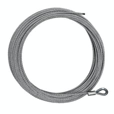"Iconic Accessories 431-82208 Replacement Winch cable 5/16"" x 95' length 9,500 lbs. capacity"