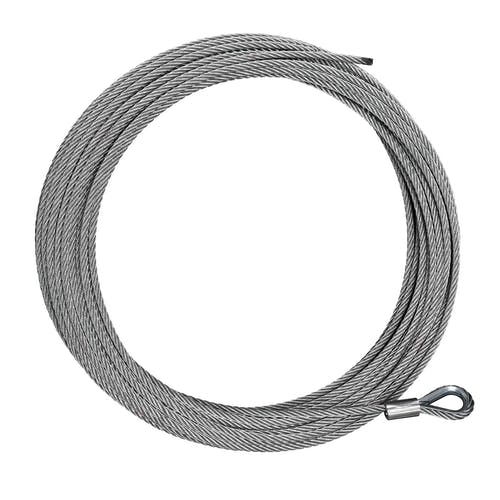 "Iconic Accessories 431-82217 Cable Replacement 3/16"" x 41' length rated at 3,000 lbs for utility winches"