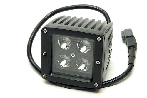 "Iconic Accessories 511-1031 3"" LED Cube Light (8° Spot, 1,440 lm, Chrome Face)"