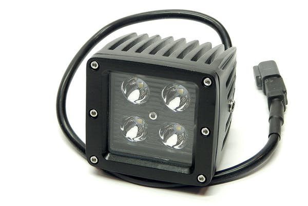 """Iconic Accessories 511-1031 3"""" X 3"""" 16W Square LED Light Spot 1,440 Lumens each Black Face"""