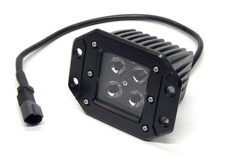 "Iconic Accessories 511-1035 3"" Flush-Mount LED Cube Light (90° Flood, 1,440 lm, Chrome Face)"