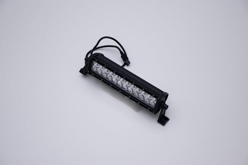 "Iconic Accessories 513-1121 12"" Dual-Row Straight LED Light Bar (8° Spot/90° Flood, 6,480 lm, Chrome Face)"