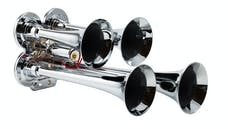Kleinn Automotive Air Horns 141 Compact quad air horn with chrome plated zinc alloy trumpets