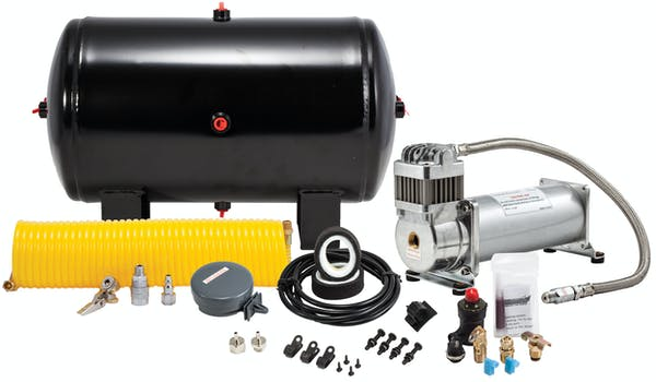 Kleinn Automotive Air Horns 6450 150 PSI 100% duty sealed air compressor with 5 gallon tank/tire inflation kit