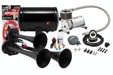 Kleinn Automotive Air Horns HK3-1 Pro Blaster™ Triple Air Horn Kit w/130 PSI Sealed Air Compressor/1.0 gal tank