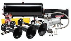 Kleinn Automotive Air Horns HK7 Pro Blaster™ Triple Train Horn Kit w/150 PSI 100% Duty Onboard Air System