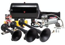 Kleinn Automotive Air Horns HK9 Pro Blaster™ Triple Train Horn Kit; 150 PSI 100% Duty Air System H.D. Valve