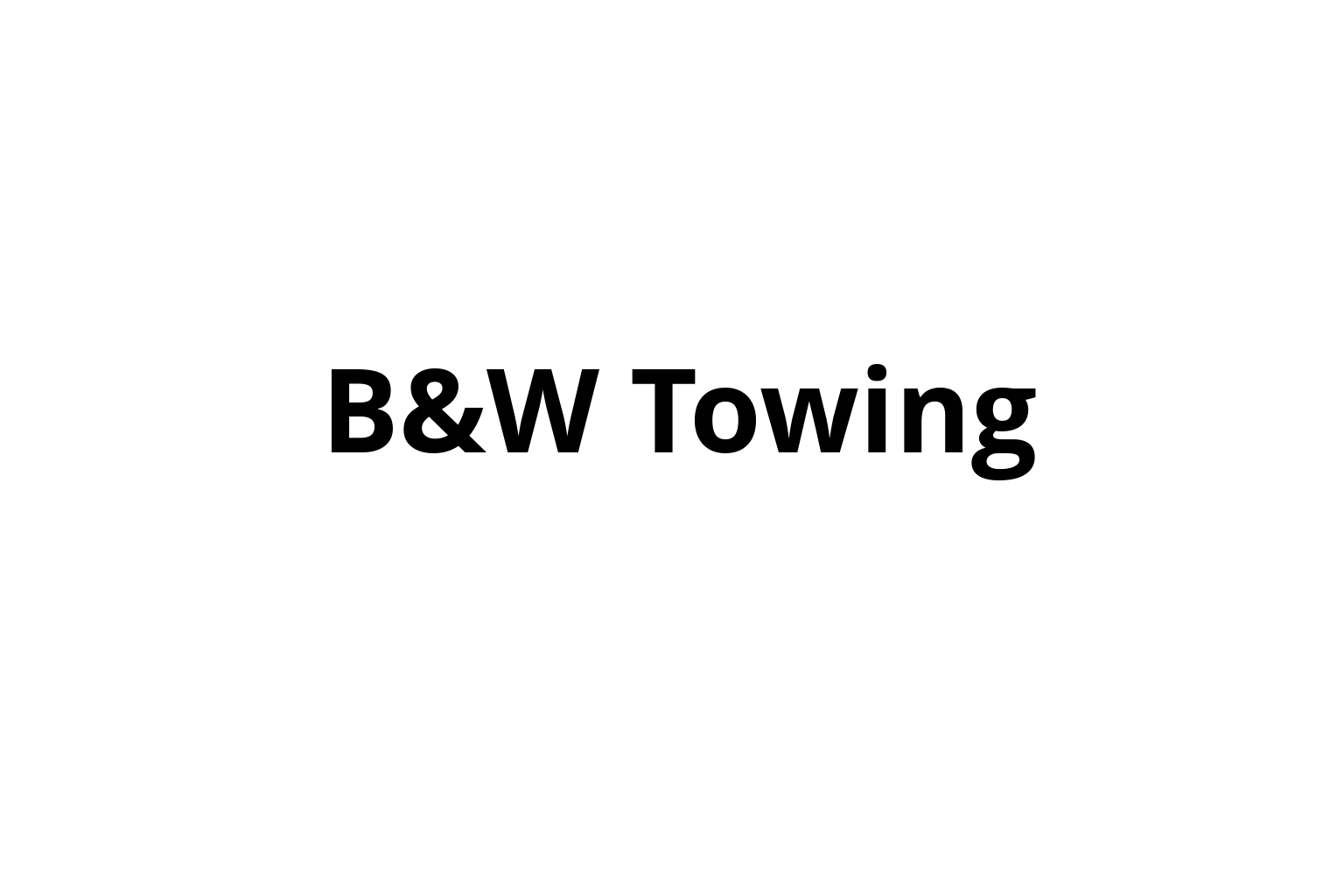 B&W Towing