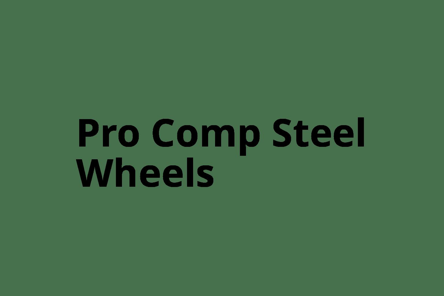 Pro Comp Steel Wheels