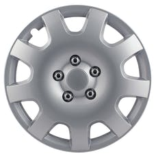 Pilot Automotive WH524-15S-B Gear Silver 9 Spoke 15' Wheel Cover