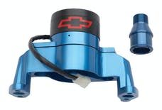PROFORM 141-653 Electric Engine Water Pump; Aluminum; Blue with Bowtie Logo; Fits SB Chevy