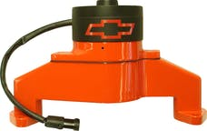 PROFORM 141-675 Electric Engine Water Pump; Aluminum; Orange with Bowtie Logo; Fits BB Chevy