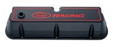 PROFORM 302-003 Engine Valve Covers; Tall Style; Die Cast; Black with Ford Logo; For SB Ford