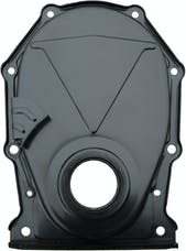 Proform 66194 Engine Timing Chain Cover; Black; Steel; Factory Replacement For BB Chrysler